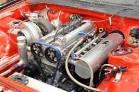A look at Boost Logic race car engine bay