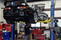 Chris working on SW's supra