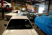 Cars inside the garage