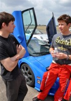 Marc chats with Tanner at the Texas MIle