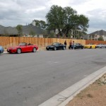 S2000s lined up for a drive on Lime Creek Road